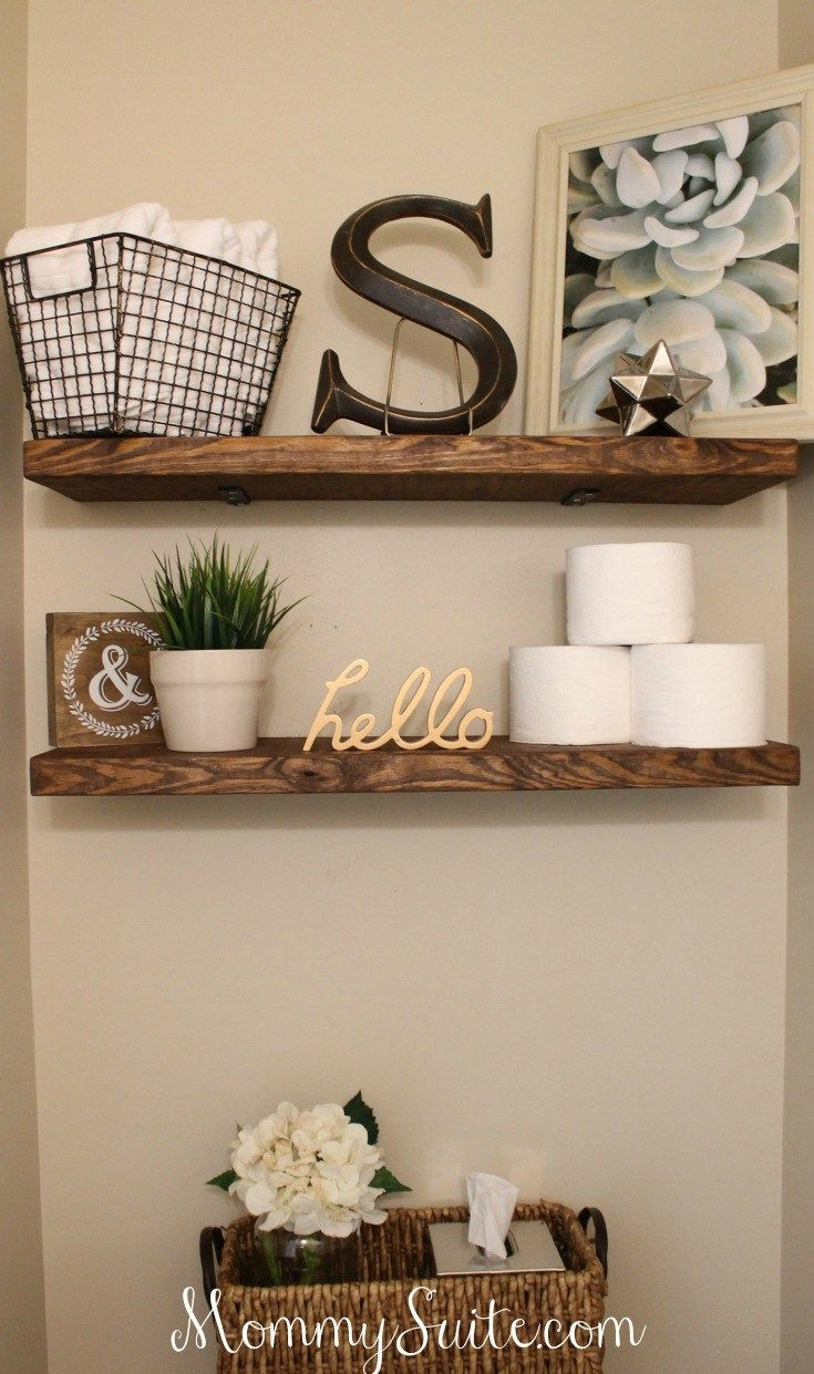 Diy Faux Floating Shelves Demeure Pinterest Bathroom Diy