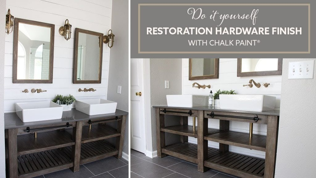 Diy Restoration Hardware Finish With Chalk Paint Bathroom Vanity