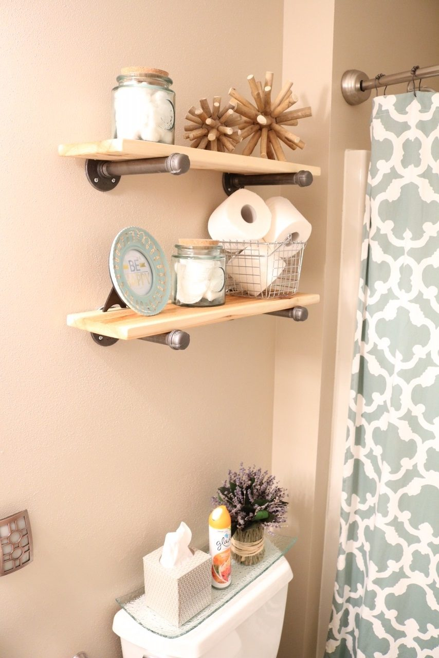 Diy Rustic Industrial Bathroom Shelves And Beach Decor Sugar Maple