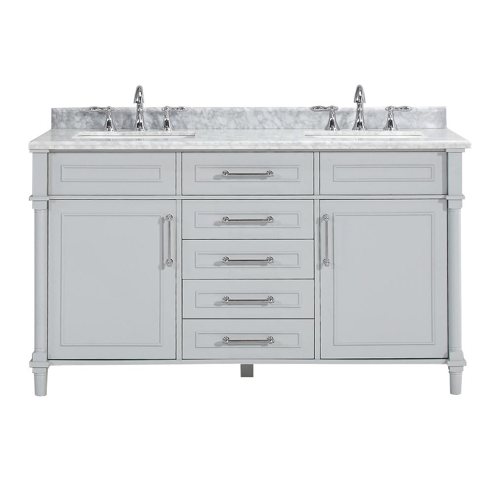 Double Sink Bathroom Vanities Bath The Home Depot