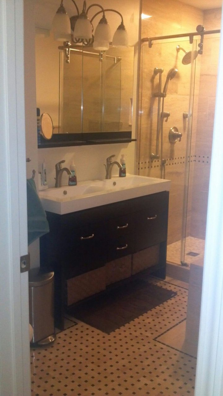 Double Sink Vanity Solution For Small Bathroom Home Remodeling