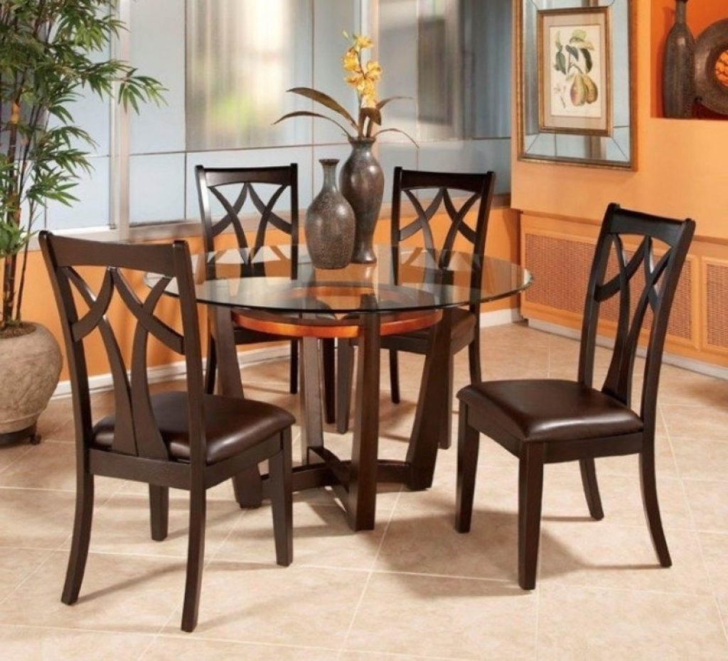 Elegant Dining Table 4 Chairs Dining Room Sets Walmart Sl Round