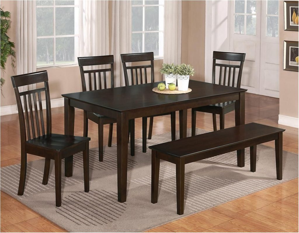 Extraordinary 6 Pc Dinette Kitchen Dining Room Set Table Wood Chair