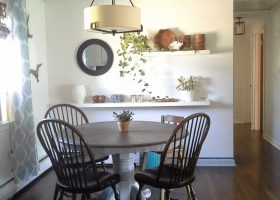 Dining Room Floating Shelves