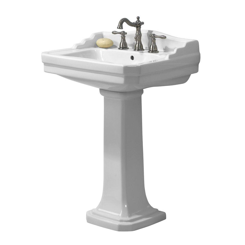 Foremost Series 1930 Lavatory And Pedestal Combo In White Fl 1930 8w