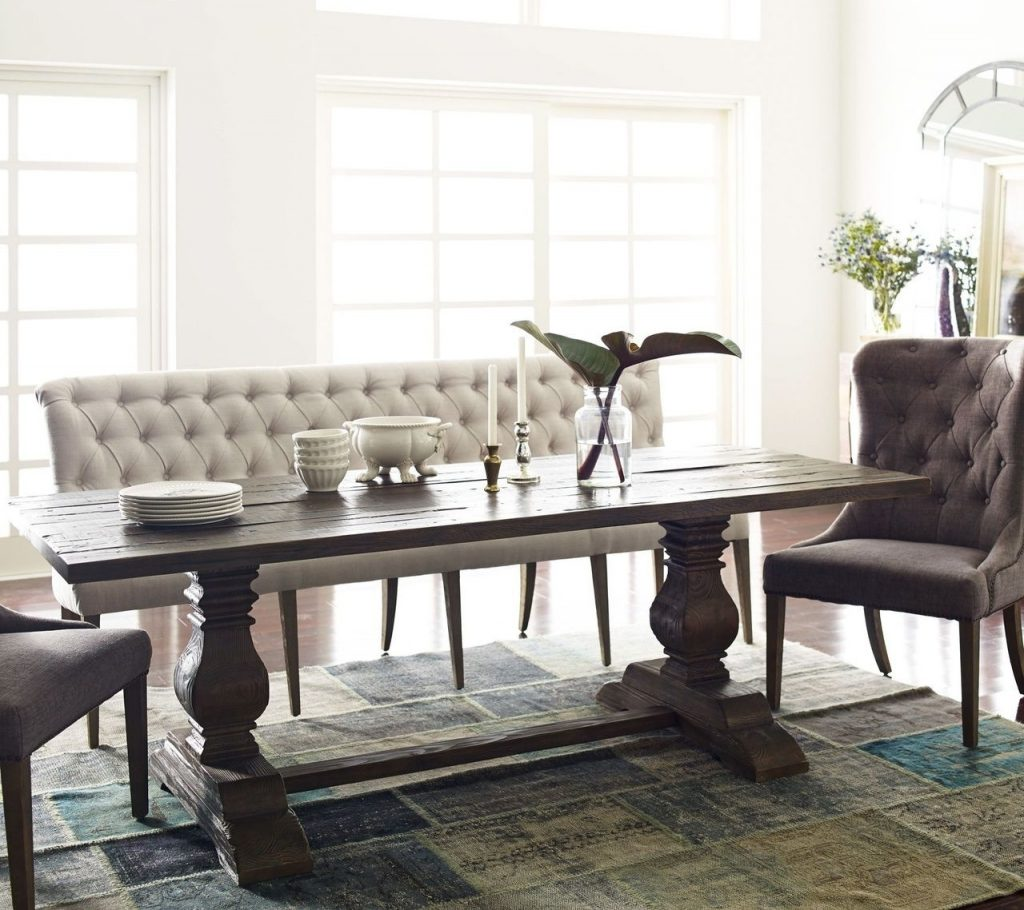 French Tufted Upholstered Dining Bench Banquette In 2018 Bedroom