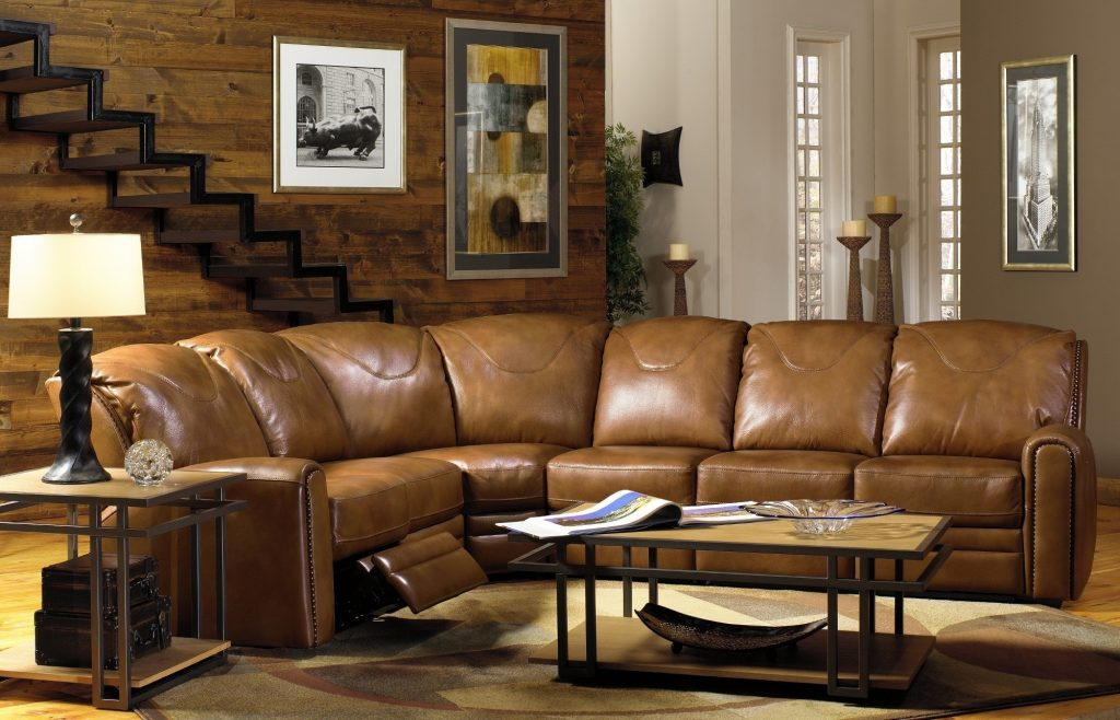 Furniture Fabulous Living Room Concept With L Shaped Leather Couch