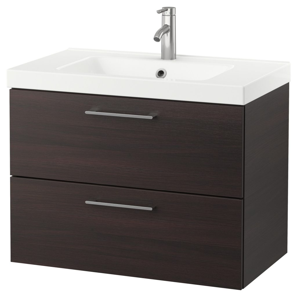 Godmorgon Odensvik Sink Cabinet With 2 Drawers High Gloss White