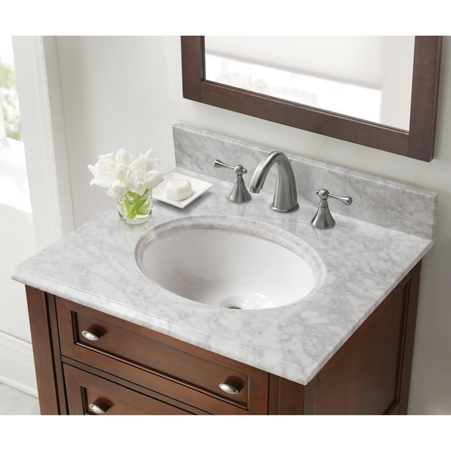 Halstead 25 X 22 Single Bowl Vanity Top Only Wbasin Carrara