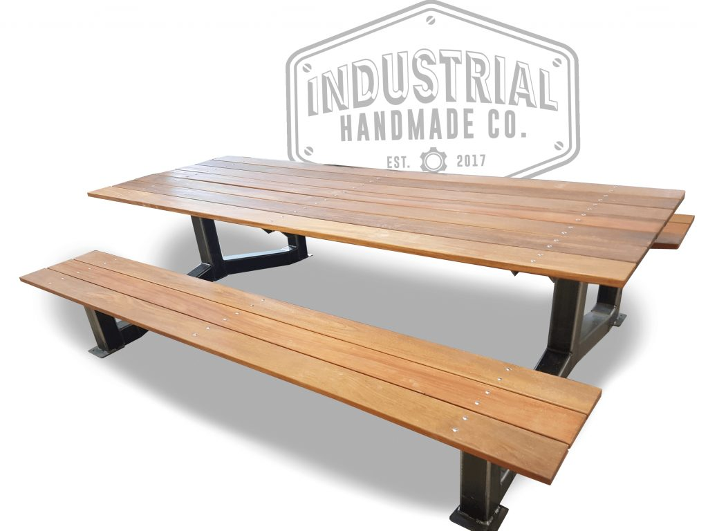 Hand Made Nashville Large Industrial Outdoor Picnic Table