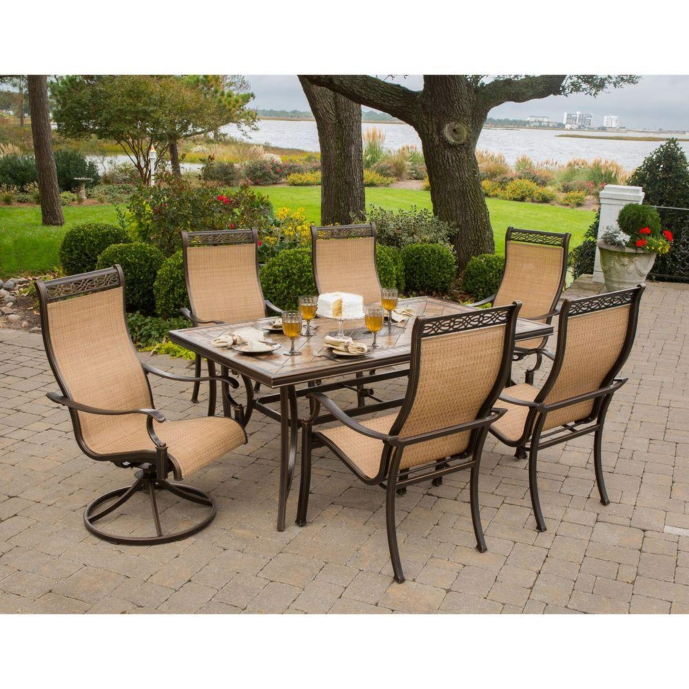 Hanover Monaco 7 Piece Outdoor Patio Dining Set Monaco7pcsw The