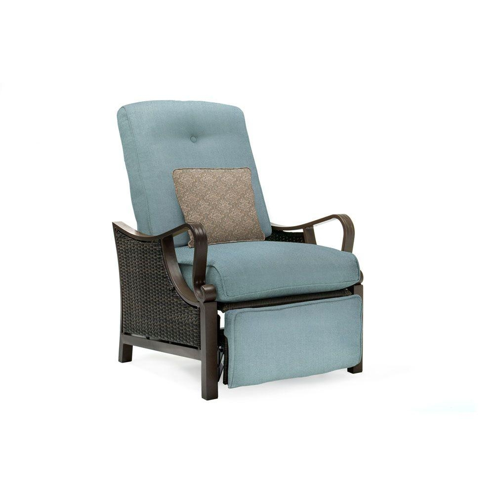 Hanover Ventura All Weather Wicker Reclining Patio Lounge Chair With