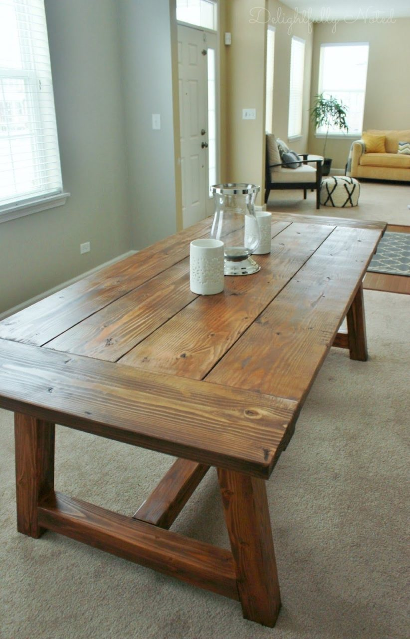 Holy Cannoli We Built A Farmhouse Dining Room Table Happy Decor