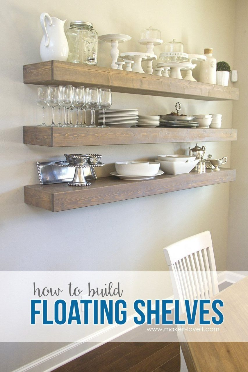 How To Build Simple Floating Shelves For Any Room In The House