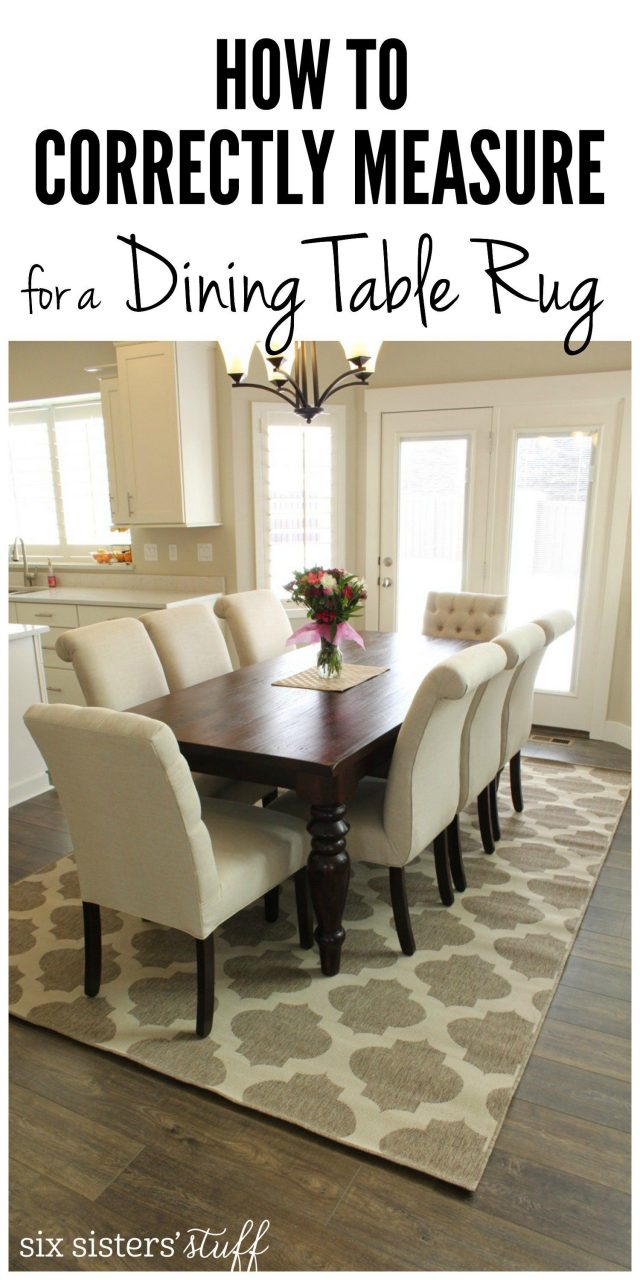 How To Correctly Measure For A Dining Room Table Rug Rugs