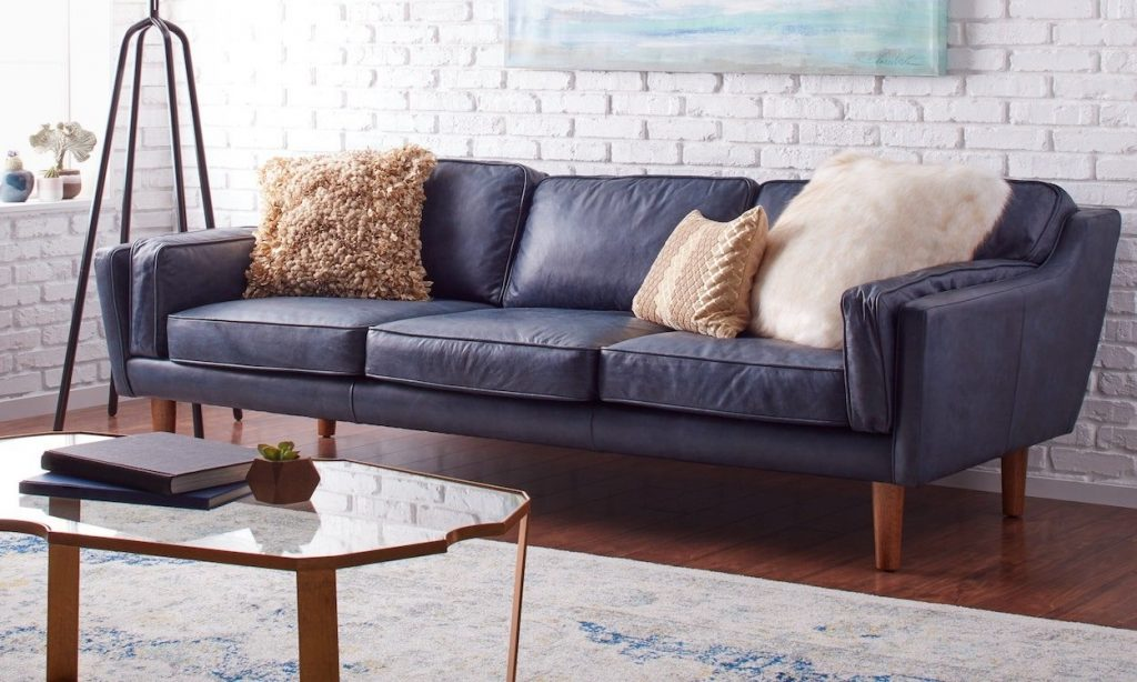 How To Decorate With A Blue Sofa Overstock Tips Ideas