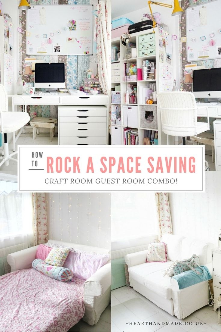 How To Rock A Creative Craft Room Guest Room Combo Diy Furniture