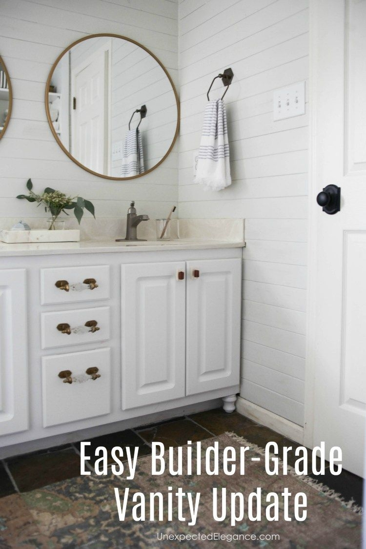 How To Transform A Builder Grade Bathroom Vanity For Less Decor