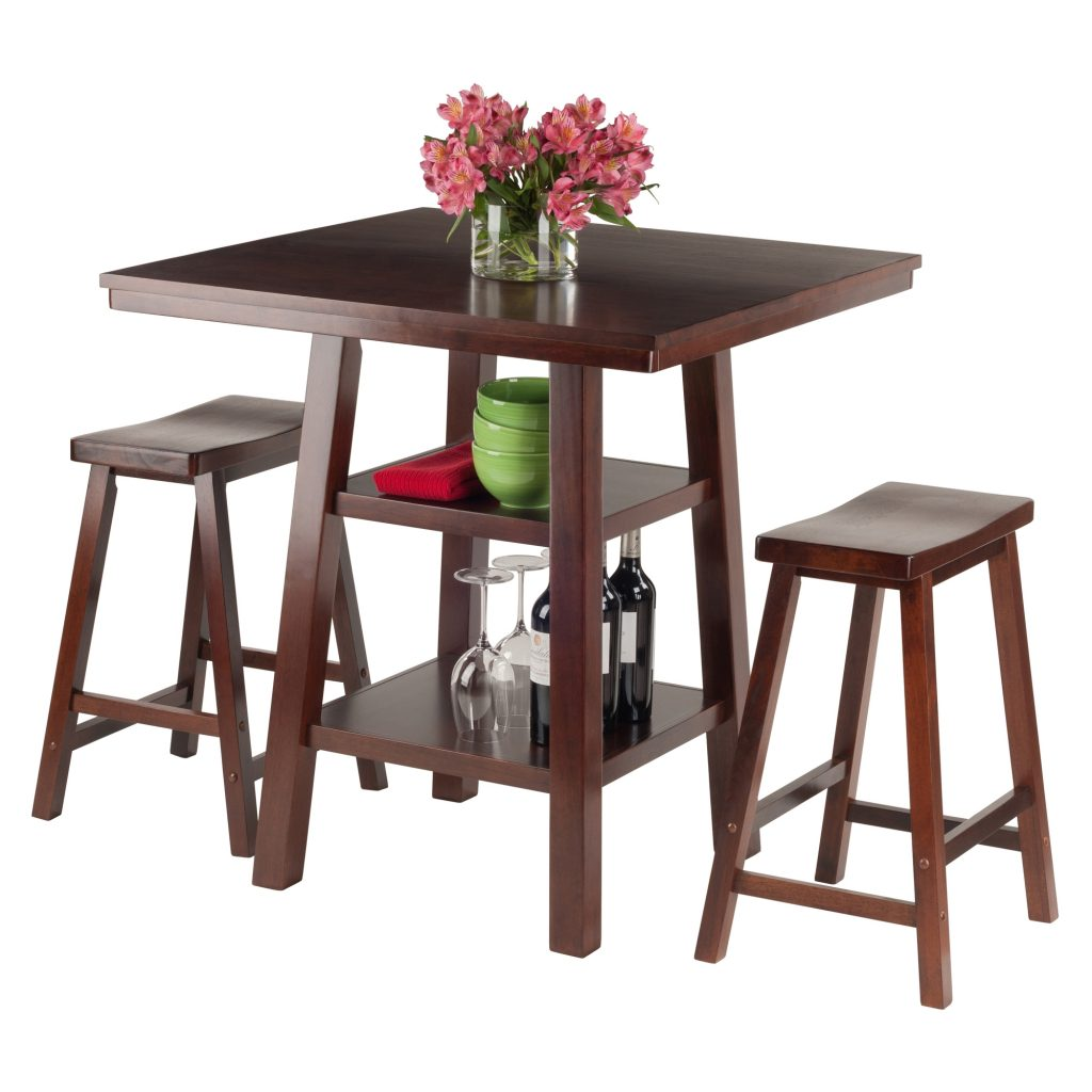 Hutton Chase Dining Room Orlando 3 Pc Set High Table 2 Shelves