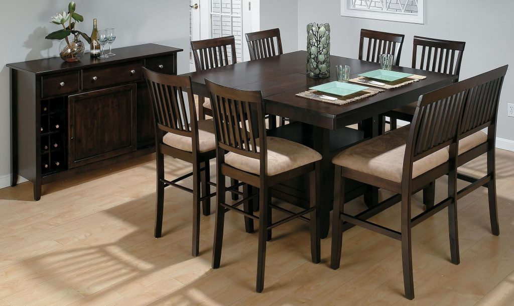 Jofran Bakers Cherry Storage Counter Height Dining Room Set