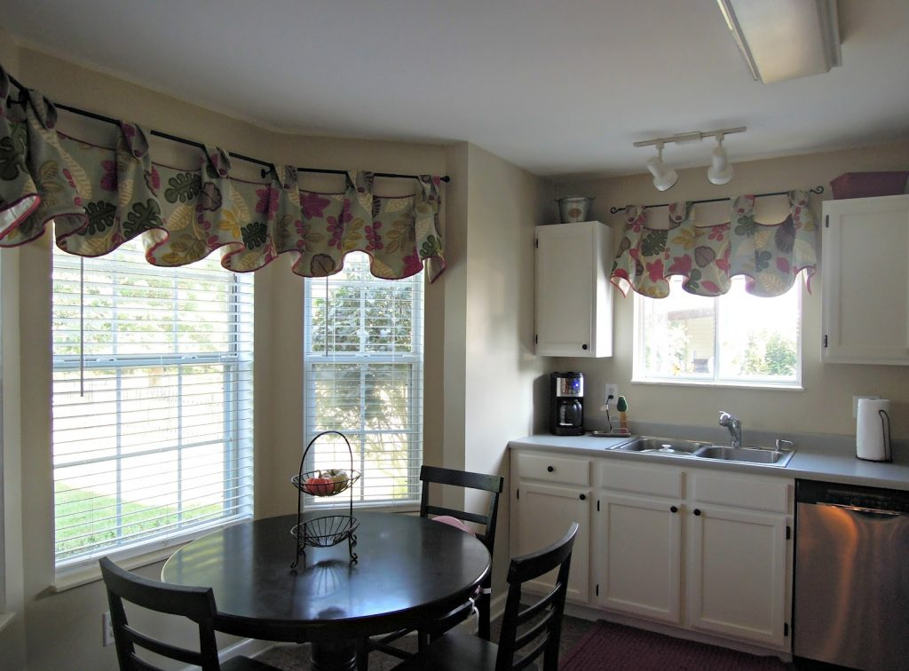 Kitchen Contemporary Kitchen Curtain Ideas For Large Windows With