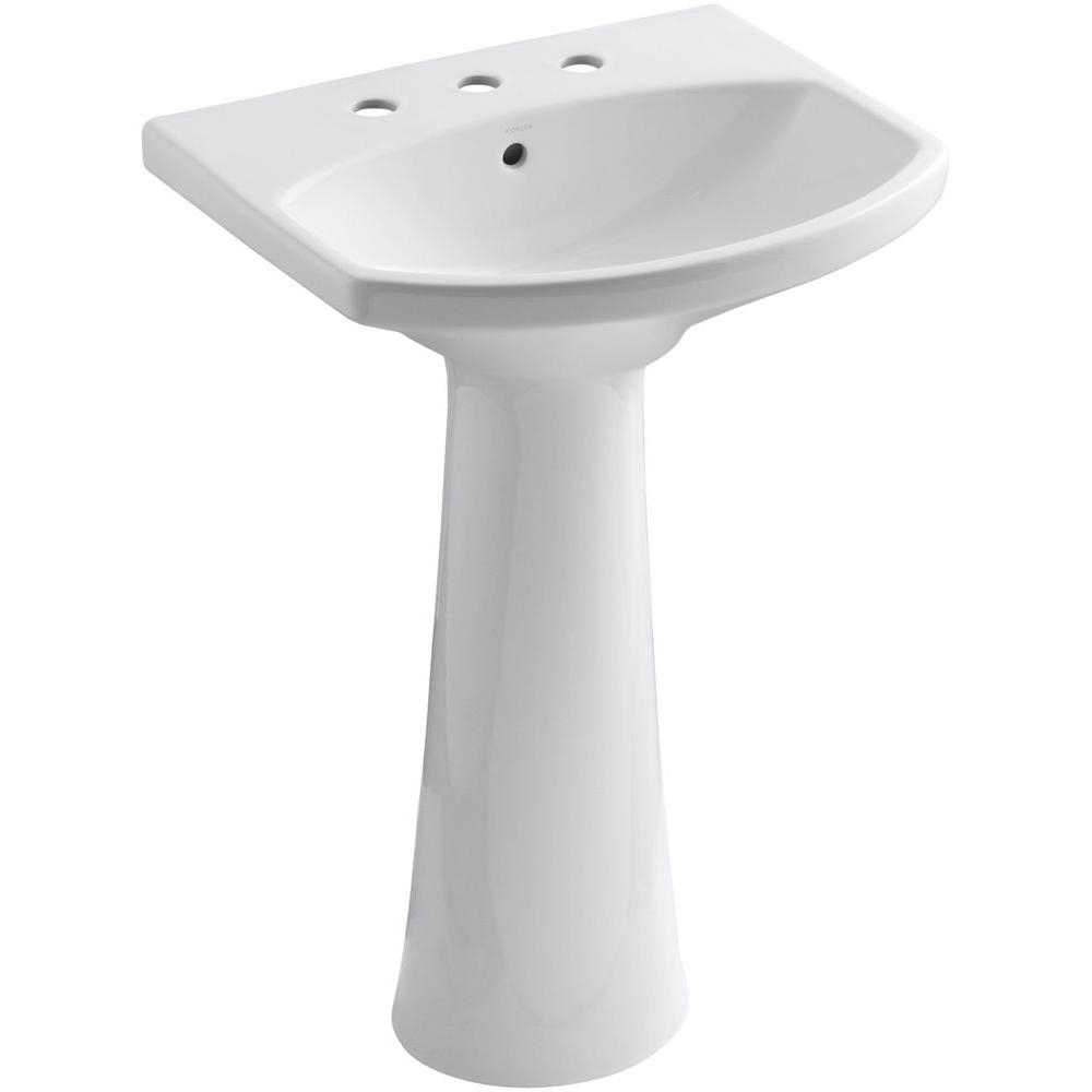 Kohler Cimarron Single Hole Vitreous China Pedestal Combo Bathroom