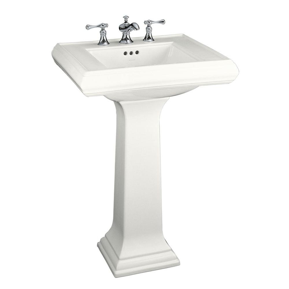 Kohler Memoirs Classic Ceramic Pedestal Combo Bathroom Sink In White