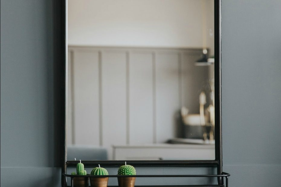 Large Industrial Mirror With Shelf Mirror Pinterest Bathroom