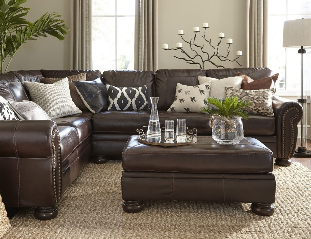 Leather Couch Decorating Ideas Living Room Alluring Dark Brown