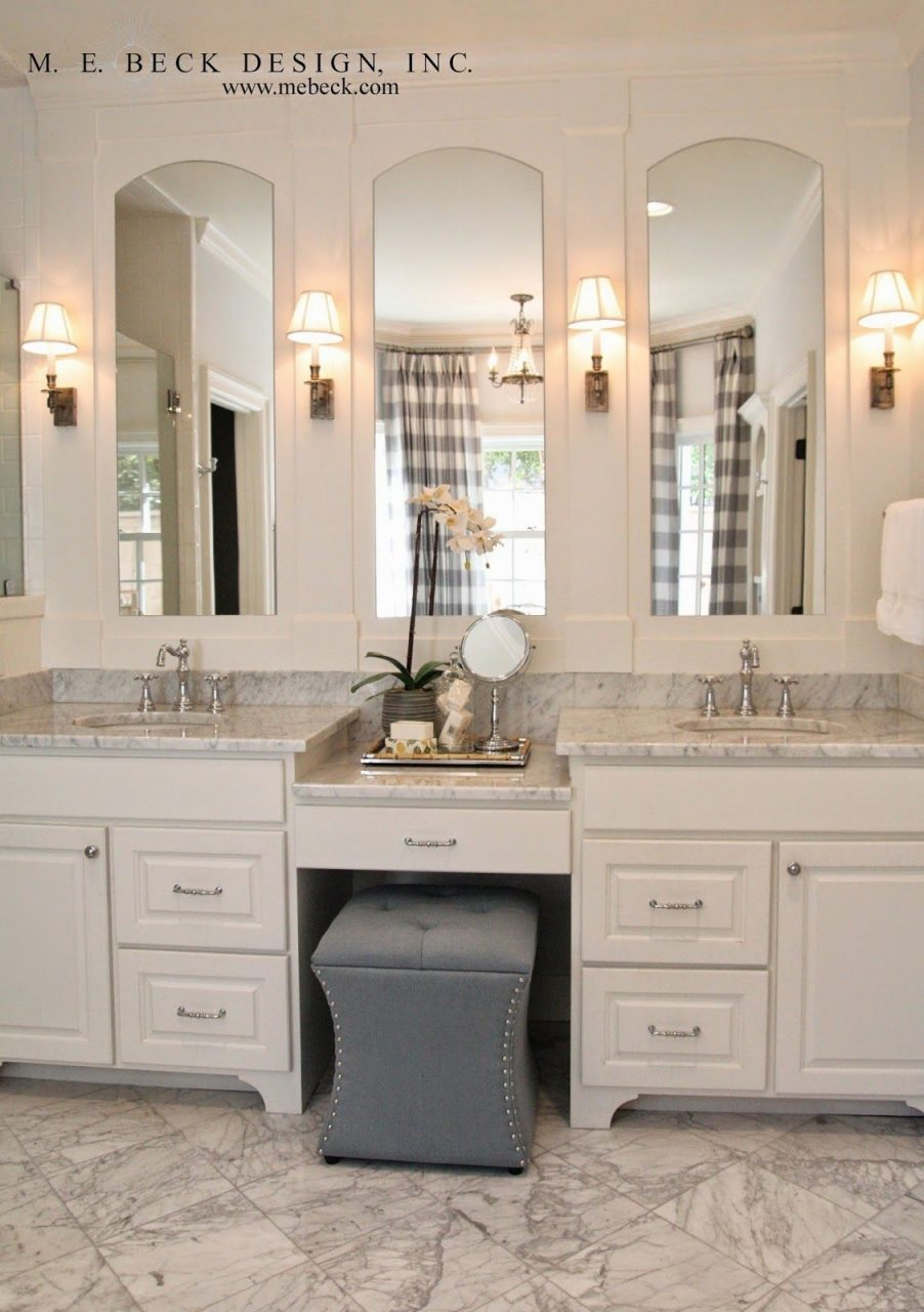 Live Beautifully Center Hall Colonial Master Bath Vanity And