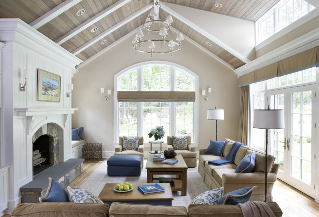 Living Room Vaulted Ceiling Ideas Home Building Plans 1825