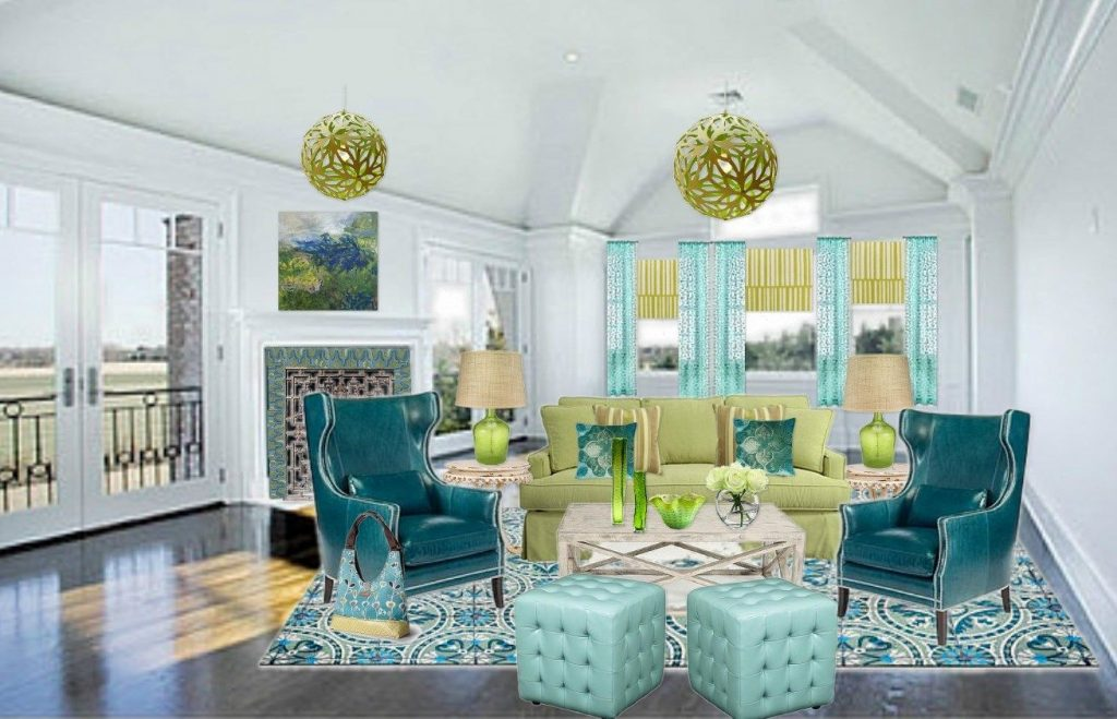 Living Rooms With Yellow Blue Green Orange Blue Green And Yellow