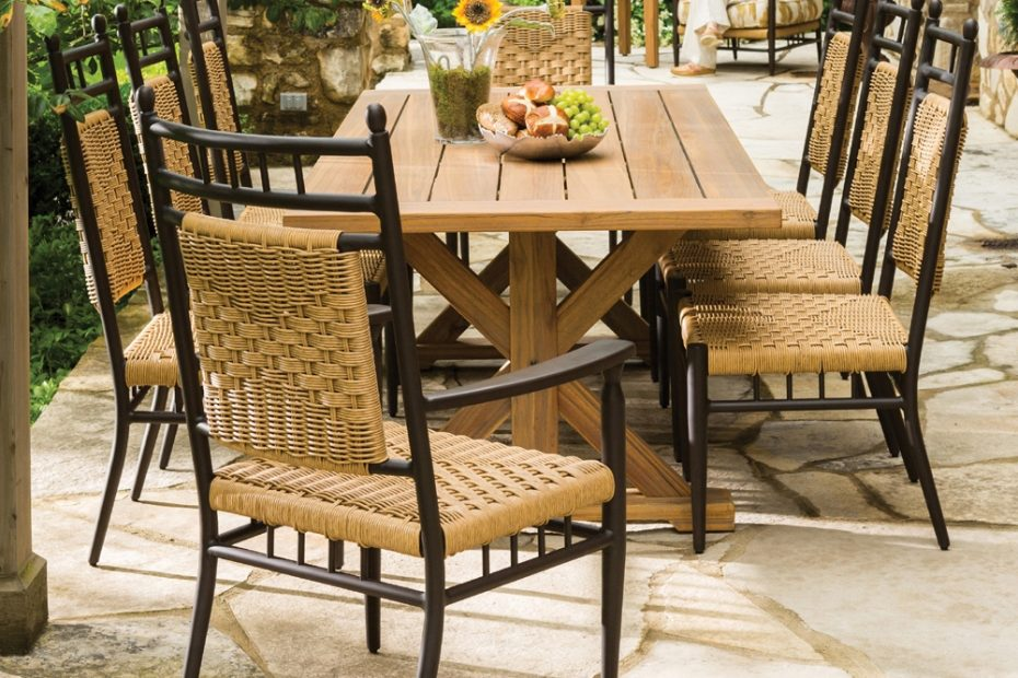 Lloyd Flanders Low Country 5 Piece Woven Vinyl Patio Dining Set Lf