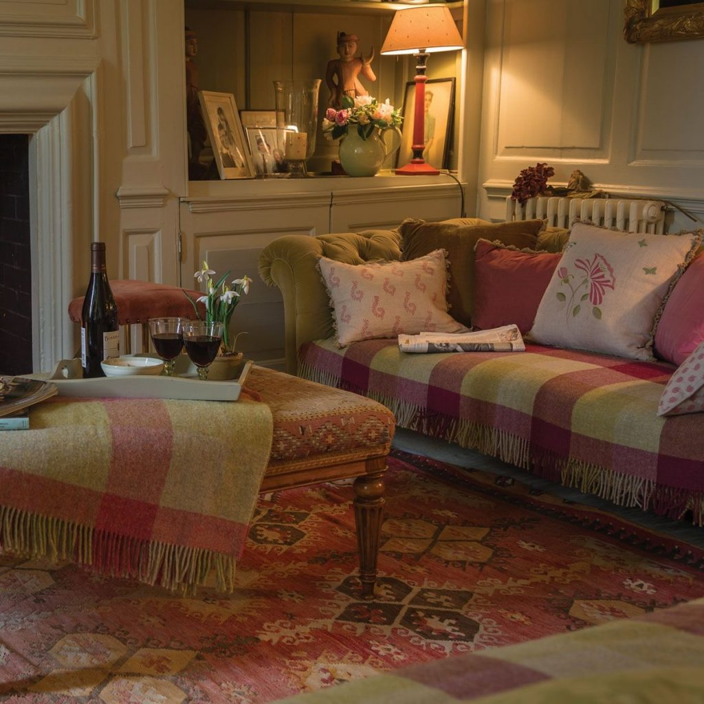 Lovely Fabrics Colors And Textures Throughout The Room Decor