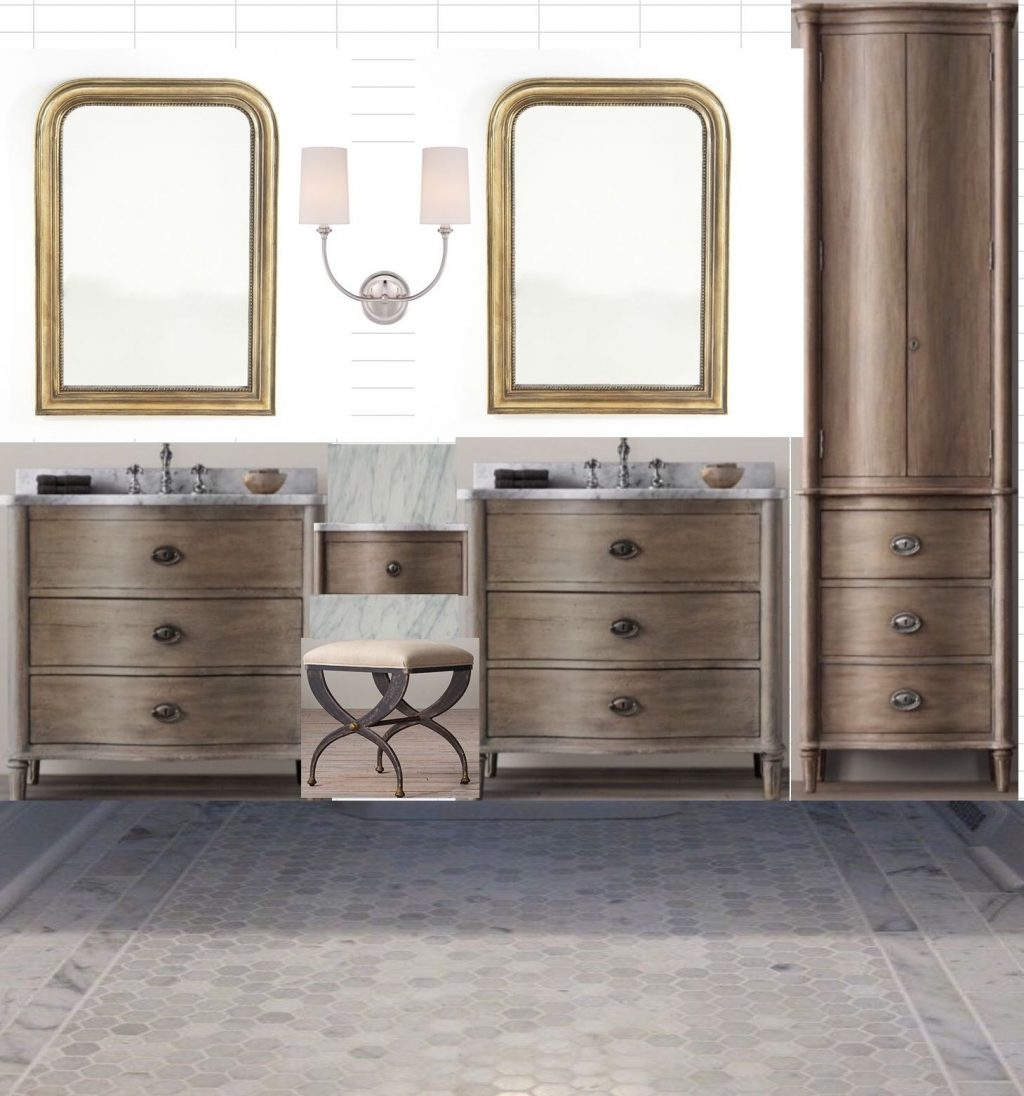 Master Bath Using Restoration Hardware Line Two 36 Vanities A