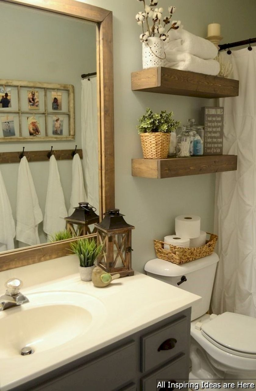 Minimalist Modern Farmhouse Small Bathroom Decor Ideas 21
