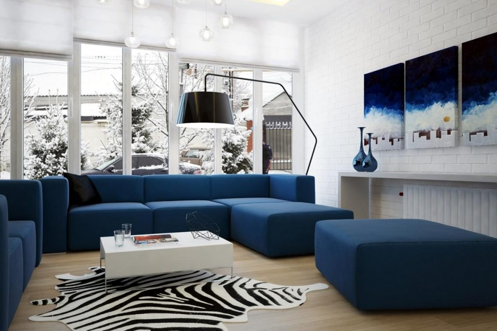 Modern Blue Couch Living Room Ideas Decorating Blue Couch Living
