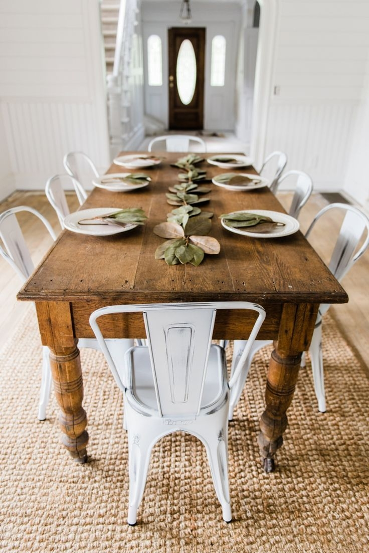 Narrow Farmhouse Dining Table For The Home Pinterest Dining