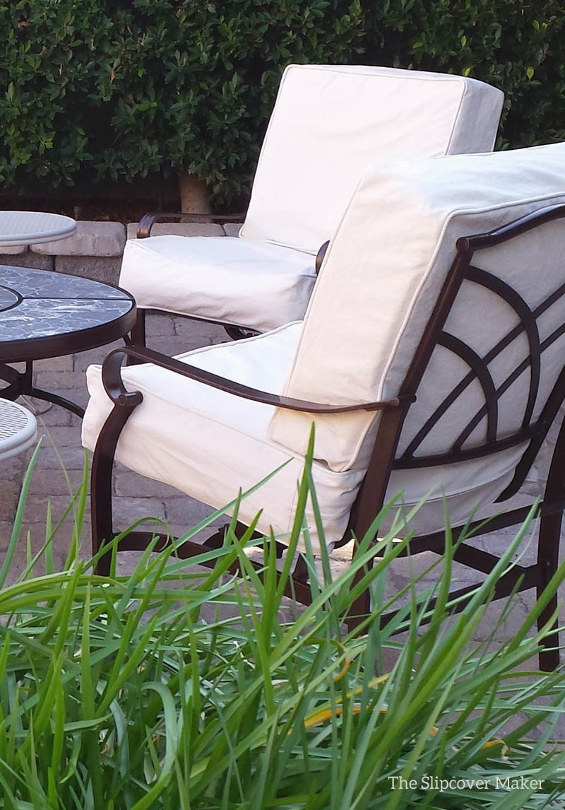 Natural Duck Slipcovers For The Patio For Patio Chair Cushion