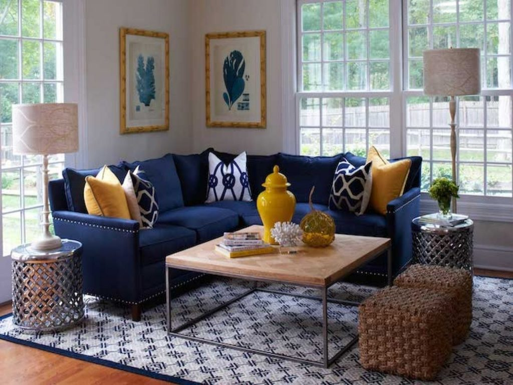 Navy Blue Couch Living Room Ideas Home Design Interior