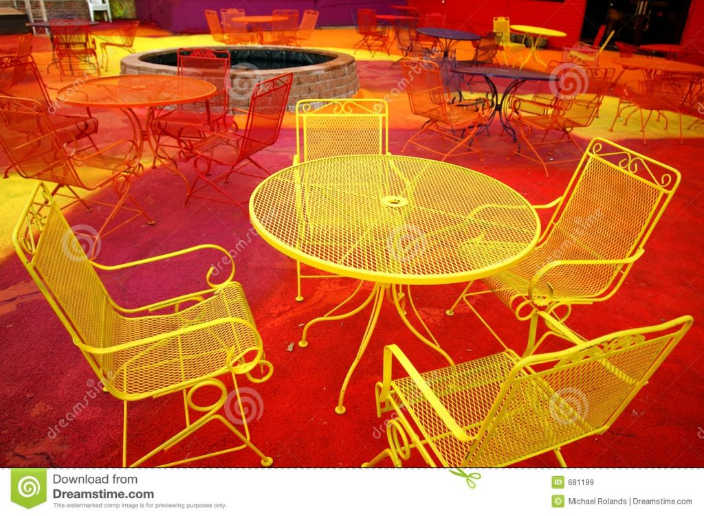 Neon Furniture Stock Image Image Of Table Orange Metal 681199