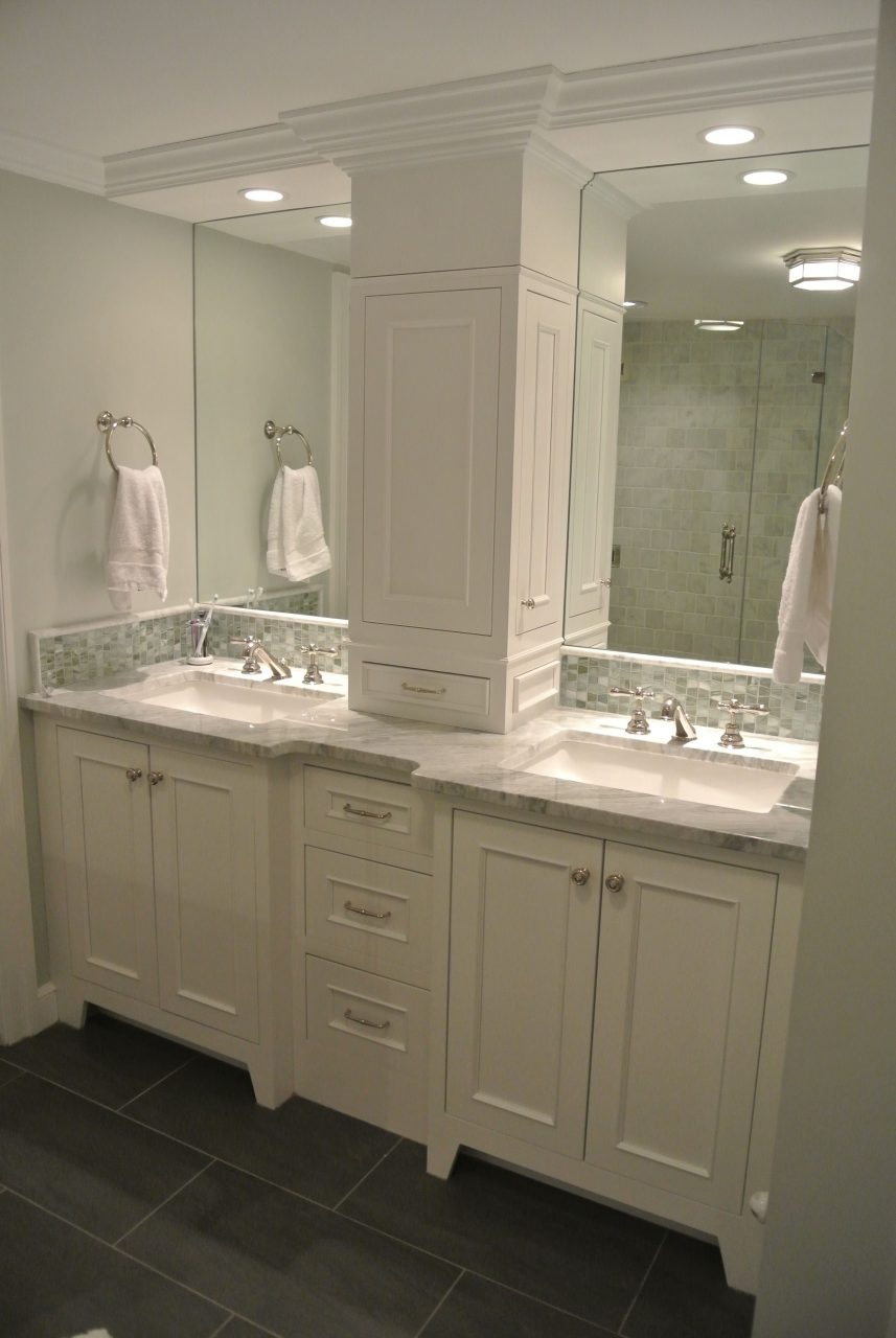 Not This One But This Arrangement Double Vanity W Recessed Tall
