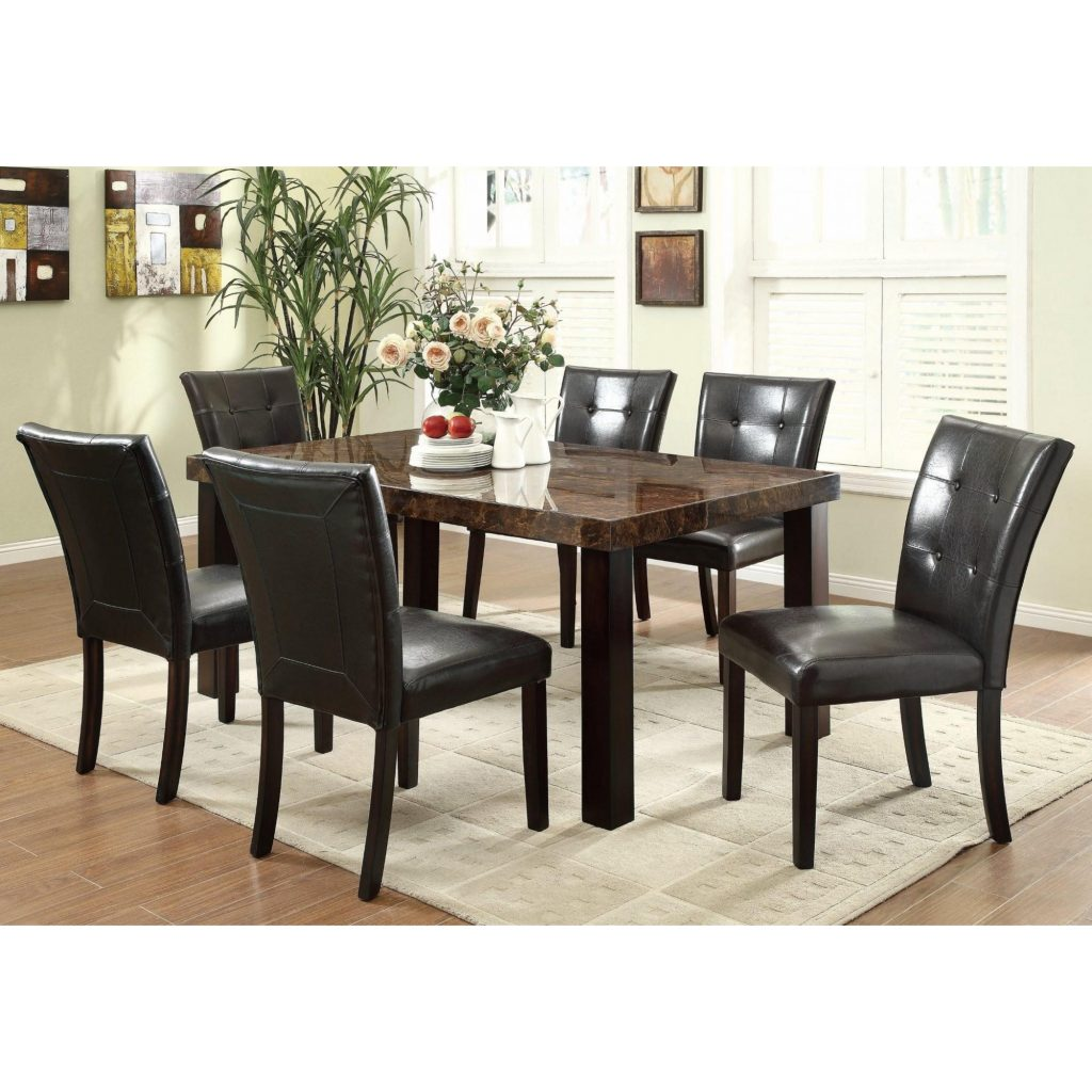 Orlando Faux Marble Dining Table Dining Room Groups Seat N Sleep