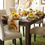 Parsons 76 Tobacco Brown Dining Table Dining Rooms Tablescapes