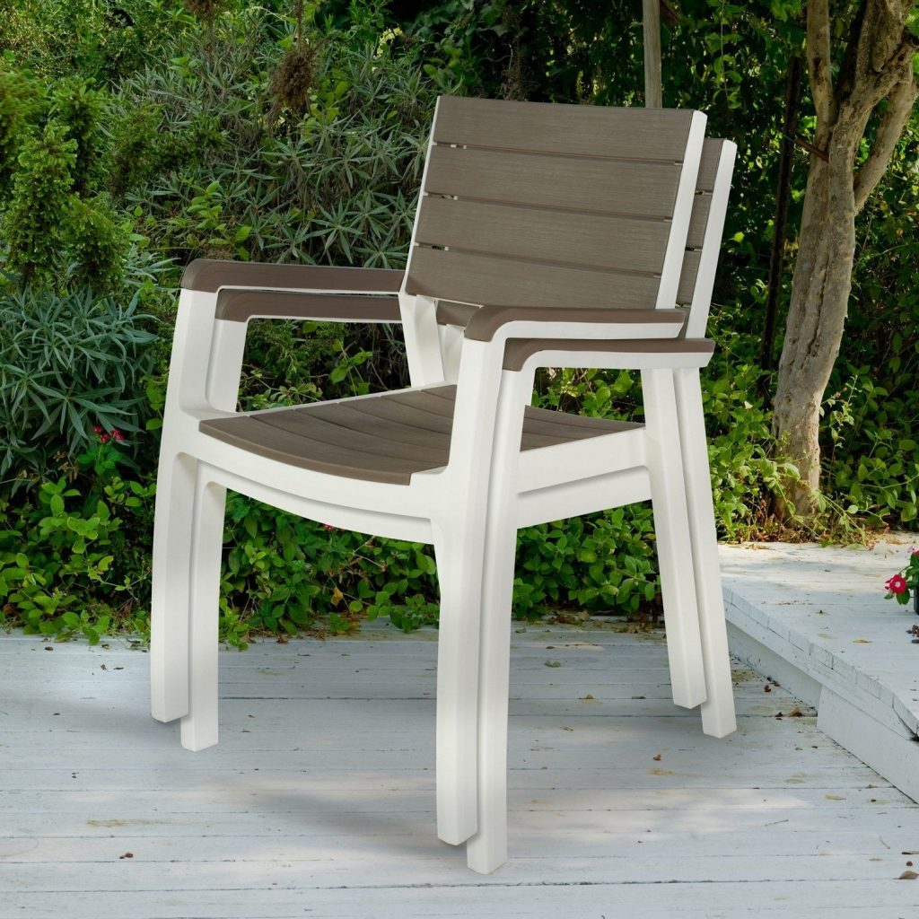 Patio Armchair Set Indoor Outdoor Garden Home Furniture Modern Wood