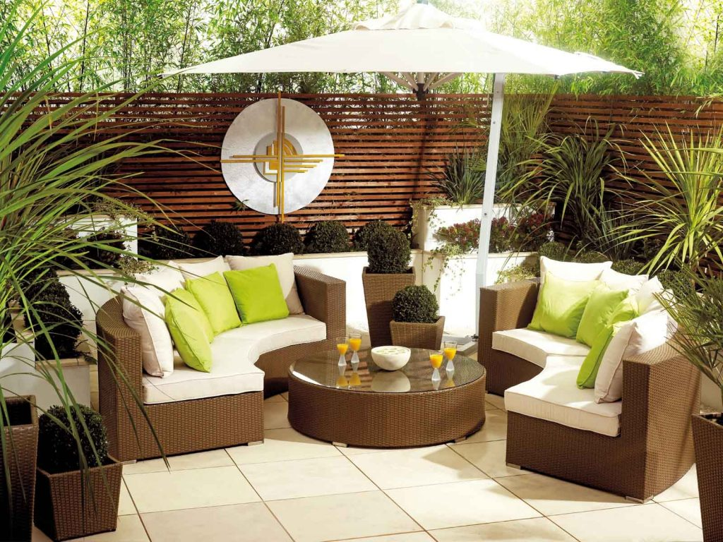 Patio Contemporary Outdoor Living Furniture Decorating Outdoor