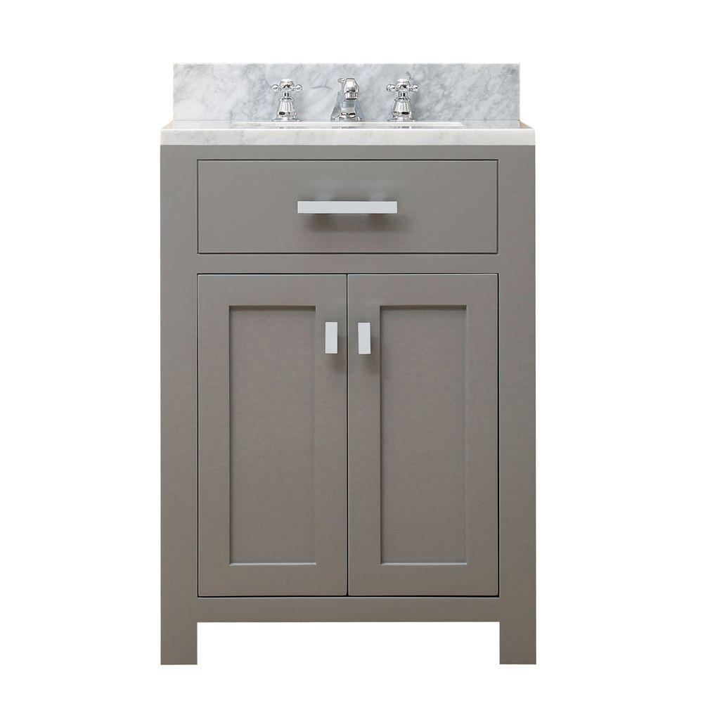 Pegasus Madison 60 In Vanity In Grey With Marble Vanity Top In