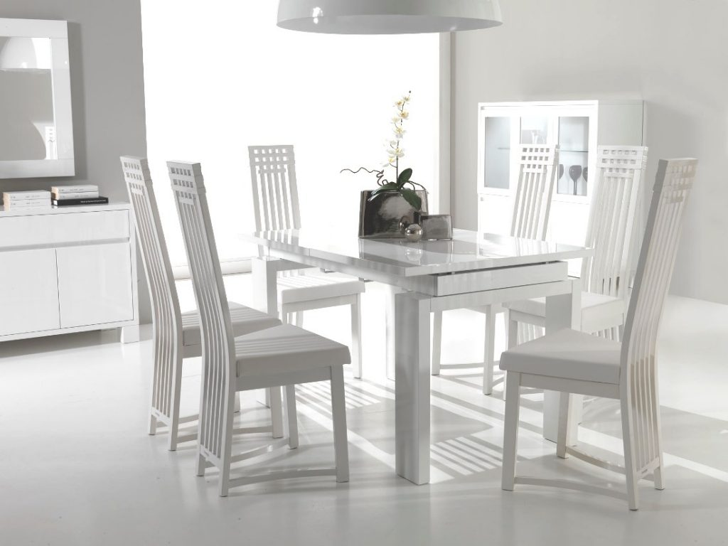 Perfect Decision For Your Home Interior White Leather Dining Room