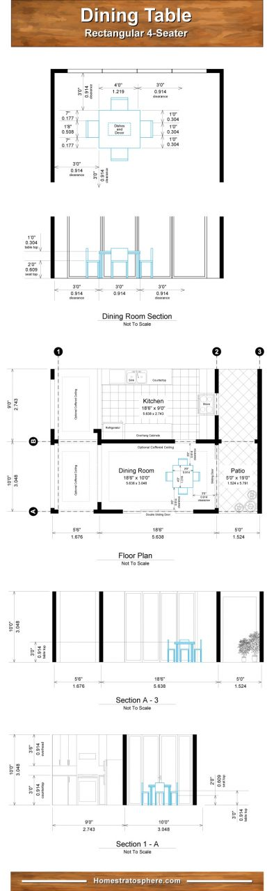 Proper Dining Room Table Dimensions For 4 6 8 10 And 12 People