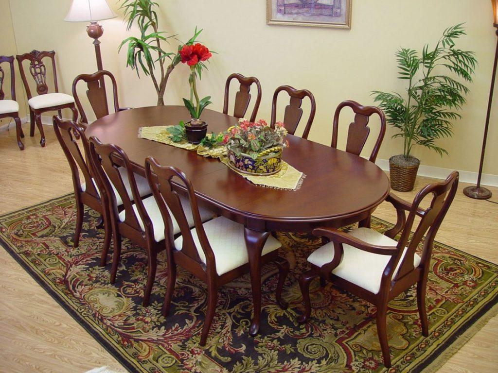 Queen Anne Cherry Dining Room Set Best Way To Paint Wood Furniture